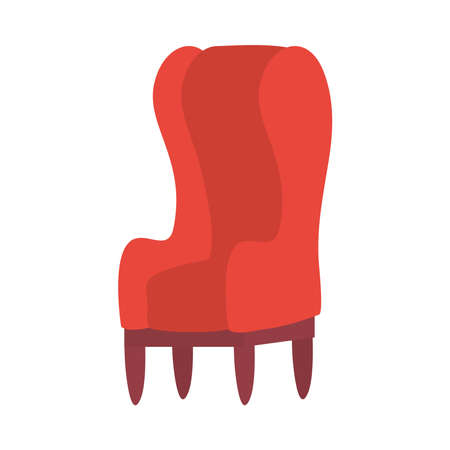 chair design, seat furniture interior home comfortable style and object theme Vector illustration Vettoriali