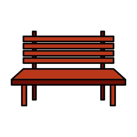 park bench furniture on white background vector illustration design