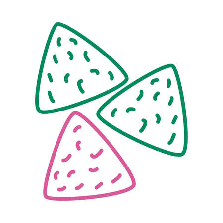 delicious mexican nachos line style icon vector illustration design Vector Illustration