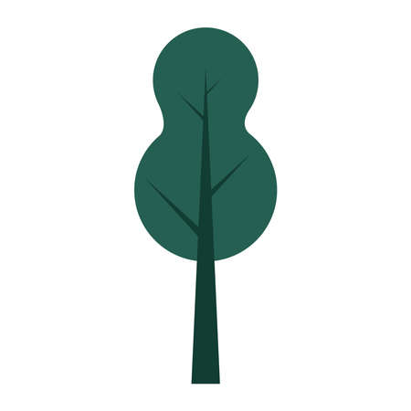 tree plant forest natural icon vector illustration design Ilustrace