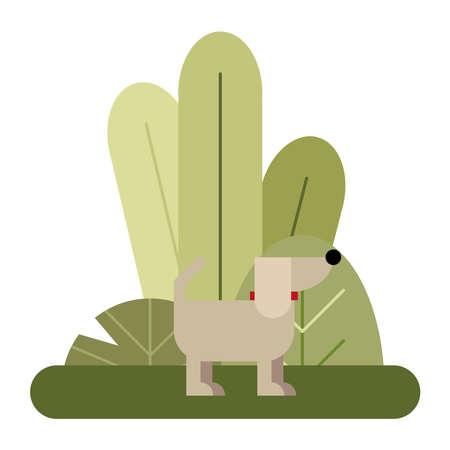 cute little dog mascot icon vector illustration design