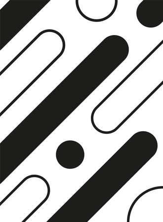 monochrome bars and circles background vector illustration design