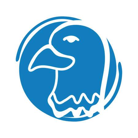 eagle bald usa block style vector illustration design Ilustrace