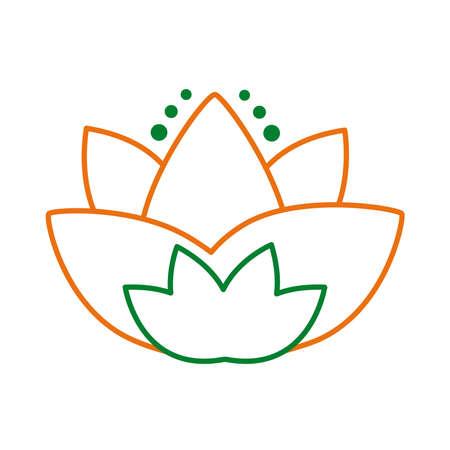 lotus flower hindu symbol line style icon vector illustration design 向量圖像