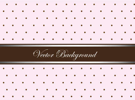 pink and brown cute with circles background. vector