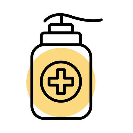 soap bottle line s tyle vector illustration design Vector Illustratie