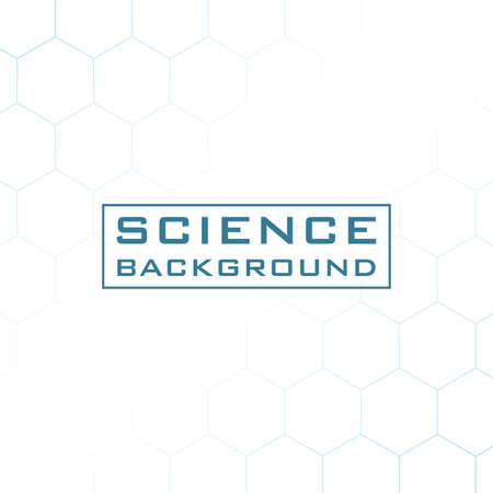 white science background with lines structures vector illustration design