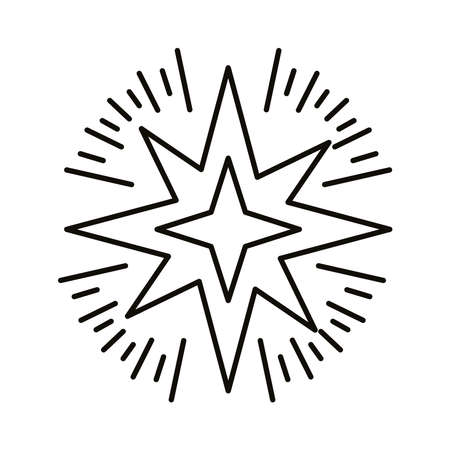 star zodiac symbol line style icon vector illustration design Illustration