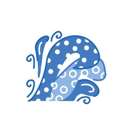 sea wave weather symbol isolated icon vector illustration design
