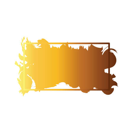 stain in square frame creative design with brush stroke degradient style vector illustration design Ilustração Vetorial