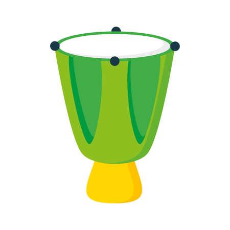 drum music instrument on white background illustration