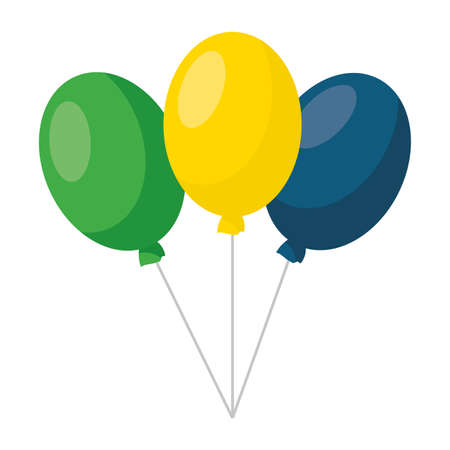 balloons decoration party on white background vector illustration