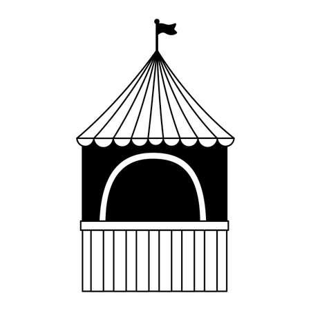 carnival booth flag on white background vector illustration design
