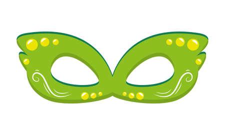 mask costume brazil carnival on white background vector illustration