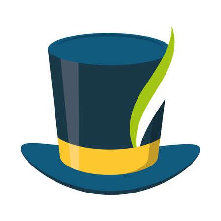top hat feather brazil carnival vector illustration Illustration