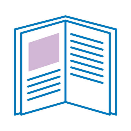 text book open line style icon vector illustration design