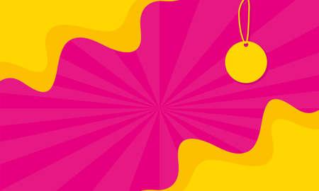 tag hanging sales banner colors poster vector illustration design