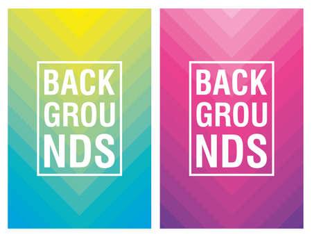 two vibrant colors background icon vector illustration design Ilustração