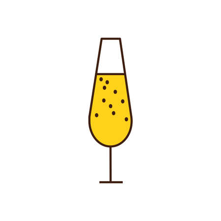 champagne cup drink isolated icon vector illustration design Illustration