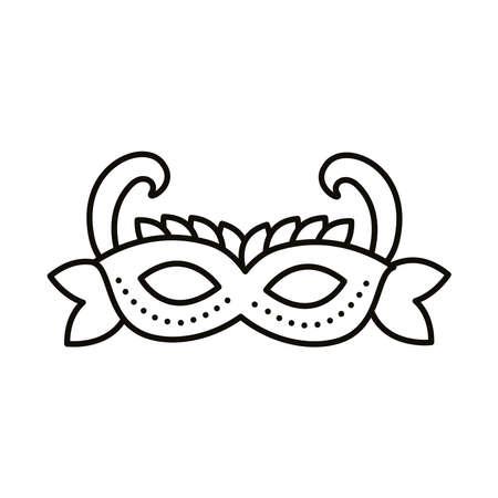 carnival mask line style icon vector illustration design Illustration