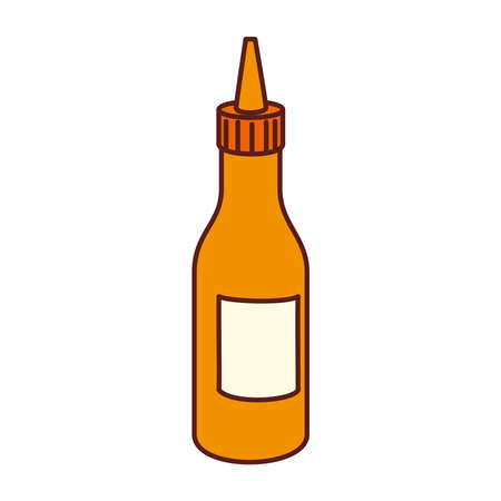 bottle of mustard sauce, on white background vector illustration design