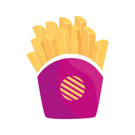 potatoes french fries on white background vector illustration design