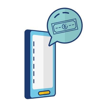 mobile banknote app online banking vector illustration Ilustração