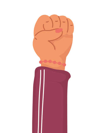 hand human fist protest icon vector illustration design
