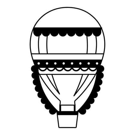 hot air balloon carnival on white background