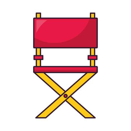 director chair cinema movie icon vector illustration
