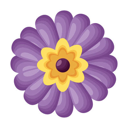 purple flower decoration on white background vector illustration Illustration