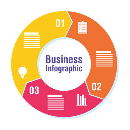 business infographic with numbers icons vector illustration Vettoriali