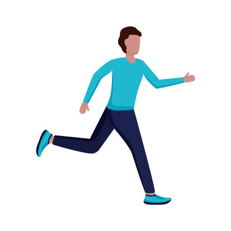 young man running avatar character vector illustration design Vector Illustration