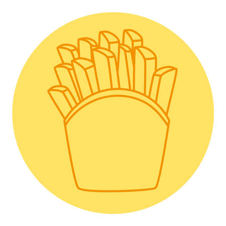 potatoes french fries, line style icon vector illustration design
