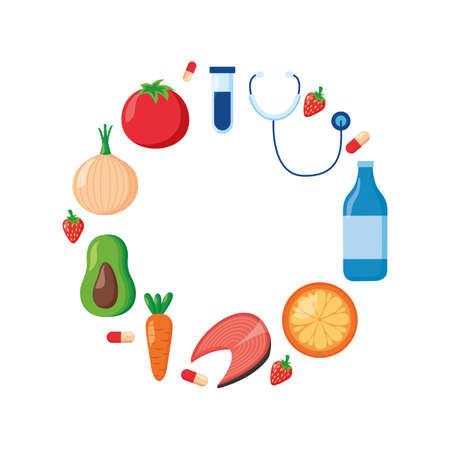 medical sport food world health day vector illustration 向量圖像