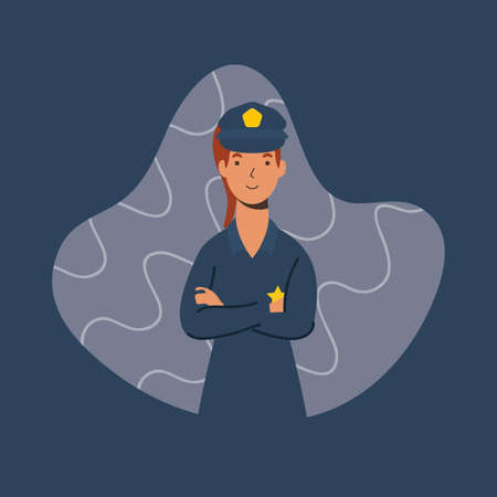 police officer essential worker character vector illustration design Illustration