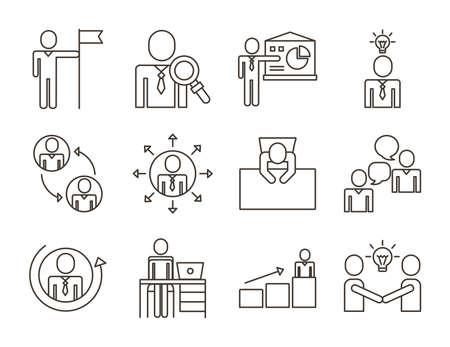 bundle of business people avatars set icons vector illustration design