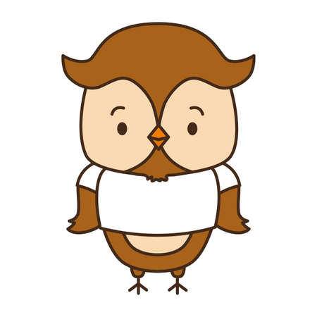 cute owl animal cartoon vector illustration design image