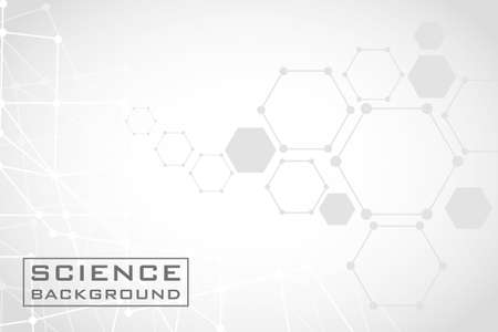 gray science background with lines structures vector illustration design