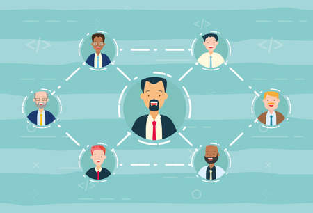 diversity man person people conneted vector illustration Illustration