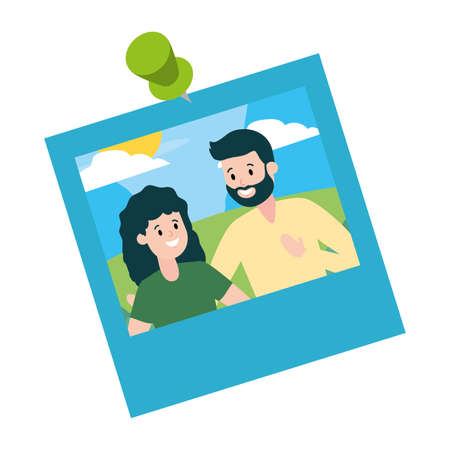 photo family smiling couple vector illustration design