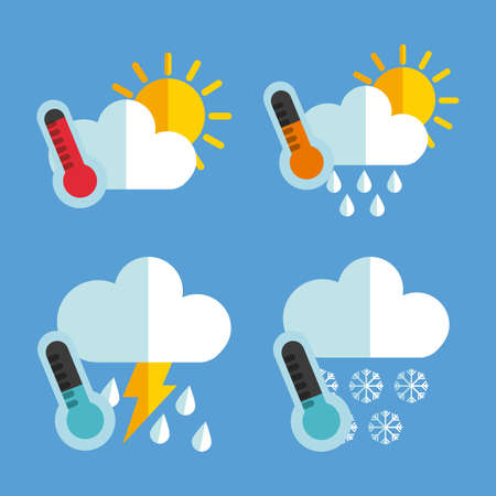 weather concept design, vector illustration graphic Illustration