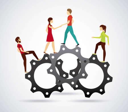 people walking design, vector illustration graphic Ilustracja