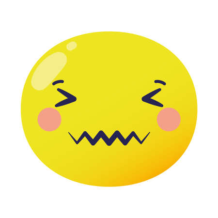 angry emoji face flat style icon vector illustration design Stock fotó - 153230039