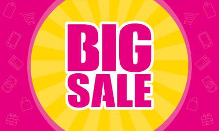 big sale commercial banner poster vector illustration design