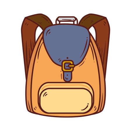 cute school bag on white background vector illustration design