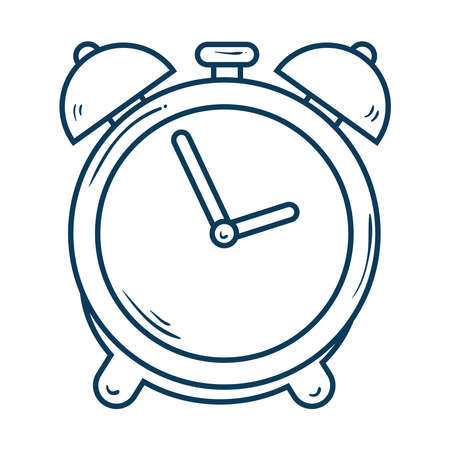 alarm clock, wake up time, line style icon vector illustration design Vectores