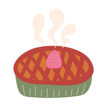 Sweet cake design, dessert food delicious sugar snack and tasty theme Vector illustration Иллюстрация