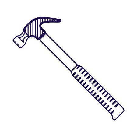 hammer tool equipment isolated icon vector illustration design