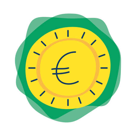 money coin euro isolated icon vector illustration design